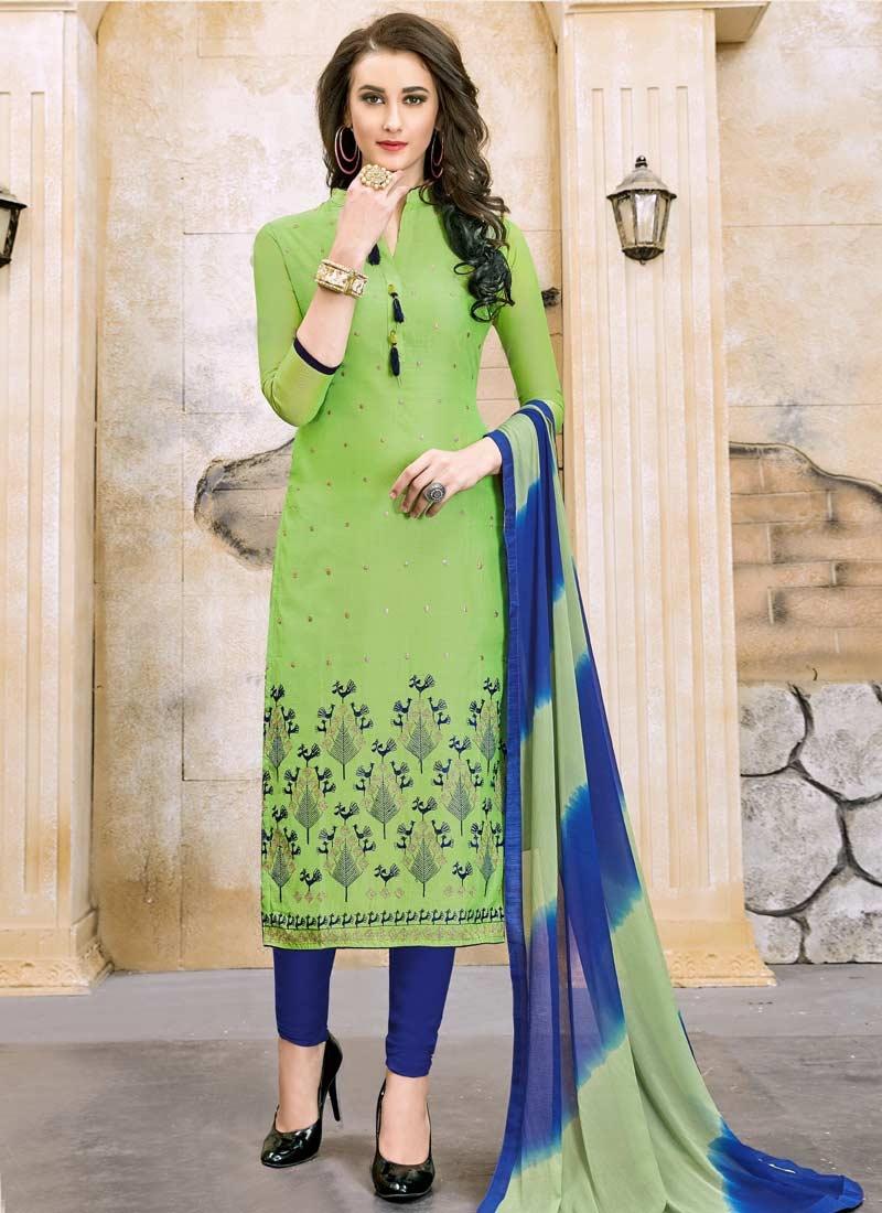 Trendy Straight Salwar Kameez For Casual