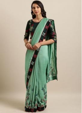 Turquoise Ceremonial Classic Designer Saree