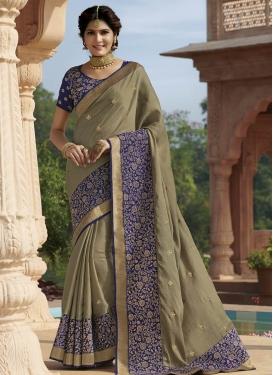 Tussar Silk Contemporary Style Saree For Festival