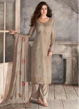 Tussar Silk Palazzo Style Pakistani Salwar Suit