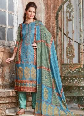 Tussar Silk Pant Style Pakistani Salwar Kameez