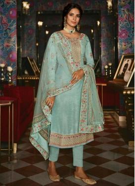 Tussar Silk Pant Style Pakistani Suit