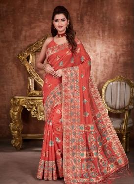 Tussar Silk Woven Work Designer Traditional Saree