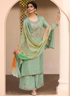 Uppada Silk Palazzo Style Pakistani Salwar Kameez