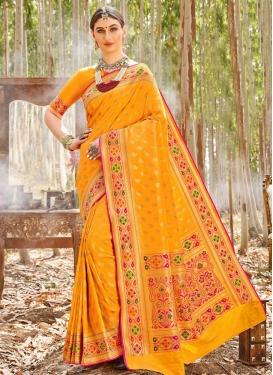 Uppada Silk Woven Work Designer Traditional Saree