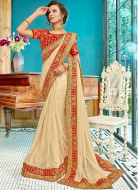 Urbane Cream Wedding Traditional Designer Saree