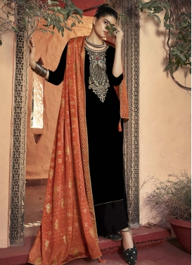 Velvet Palazzo Style Pakistani Salwar Kameez