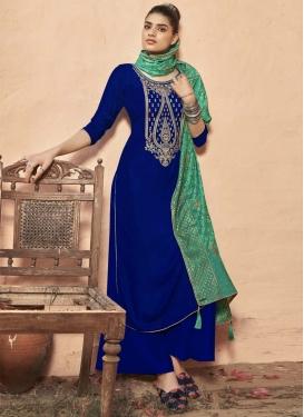 Velvet Palazzo Style Pakistani Salwar Suit For Festival