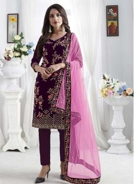 Velvet Pant Style Designer Salwar Suit