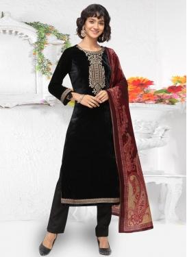 Velvet Pant Style Pakistani Suit