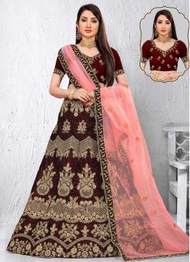 Velvet Trendy Designer Lehenga Choli For Bridal