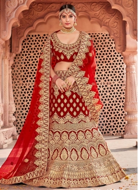 Velvet Trendy Lehenga Choli For Bridal