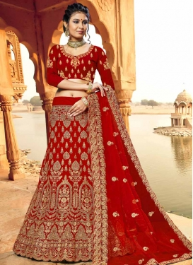 Velvet Trendy Lehenga For Bridal