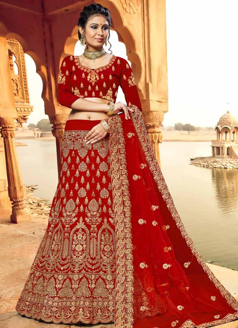 Velvet Trendy Lehenga For Bridal
