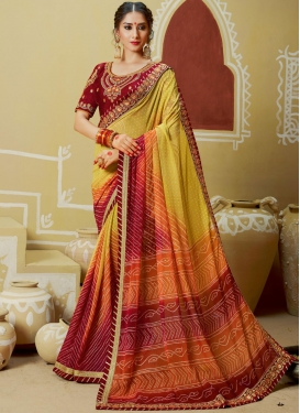 Vibrant Multi Colour Georgette Printed Saree