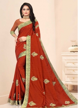 Vichitra Silk Contemporary Style Saree
