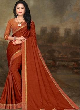 Vichitra Silk Contemporary Style Saree For Casual
