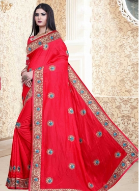 Vichitra Silk Designer Contemporary Saree