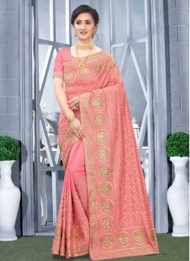 Vichitra Silk Designer Contemporary Style Saree