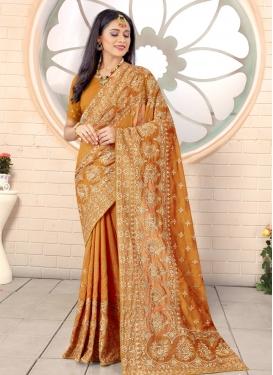 Vichitra Silk Designer Contemporary Style Saree