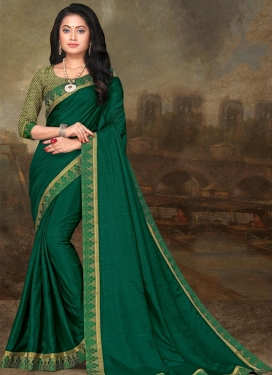 Vichitra Silk Designer Contemporary Style Saree For Casual