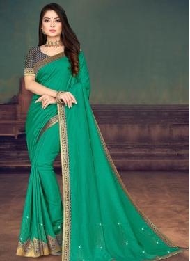Vichitra Silk Designer Traditional Saree