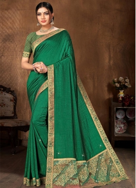Vichitra Silk Designer Traditional Saree