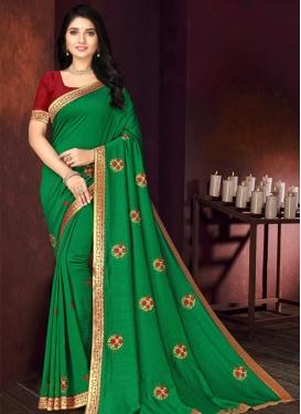 Vichitra Silk Traditional Designer Saree