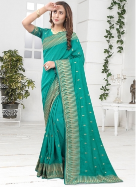 Vichitra Silk Traditional Designer Saree
