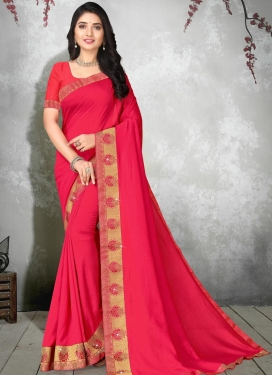 Vichitra Silk Trendy Classic Saree