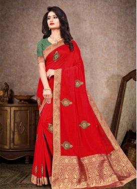 Vichitra Silk Trendy Classic Saree