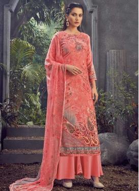 Viscose Digital Print Work Palazzo Style Pakistani Salwar Suit