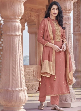 Viscose Embroidered Work Pant Style Pakistani Salwar Suit