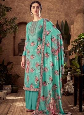 Viscose Palazzo Style Pakistani Salwar Suit