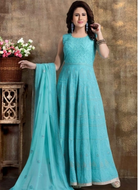 Viscose Readymade Anarkali Salwar Suit For Party