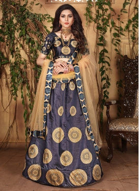 Voguish Satin Digital Print Designer Lehenga Choli