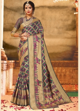 Weaving Art Silk Traditional Saree in Multi Colour