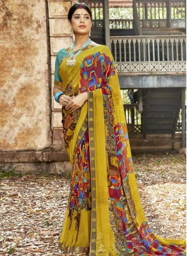 Weight Less Designer Contemporary Style Saree