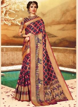Wonderous Art Silk Traditional Saree
