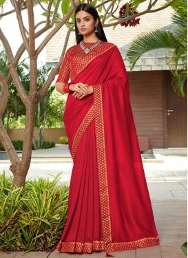 Work Silk Designer Contemporary Style Saree
