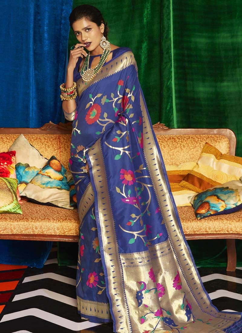 Woven Work Art Silk Contemporary Style Saree