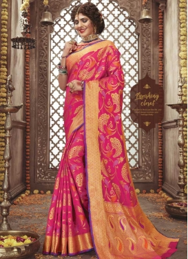 Woven Work Art Silk Designer Contemporary Saree