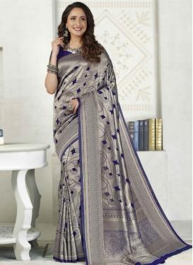 Woven Work Art Silk Designer Contemporary Saree For Festival