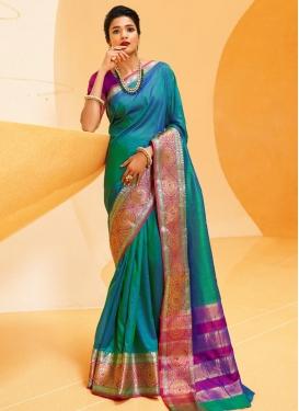 Woven Work Art Silk Designer Contemporary Style Saree