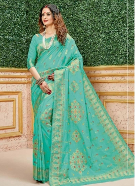 Woven Work Art Silk Designer Contemporary Style Saree