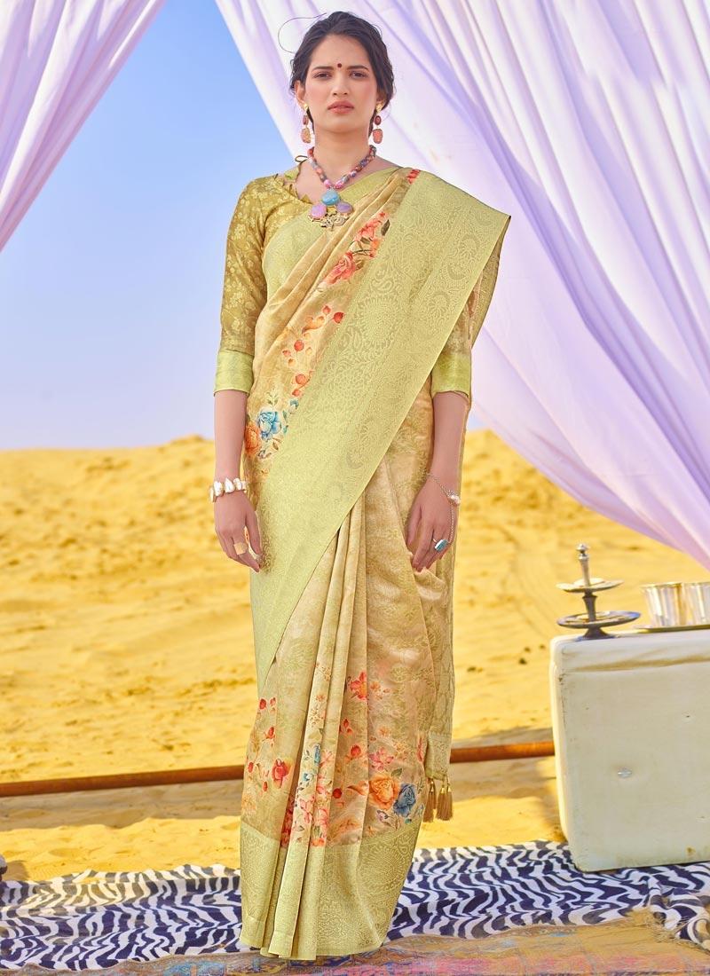 Woven Work Art Silk Designer Contemporary Style Saree For Ceremonial