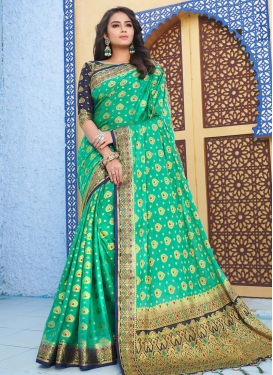 Woven Work Art Silk Designer Contemporary Style Saree For Festival