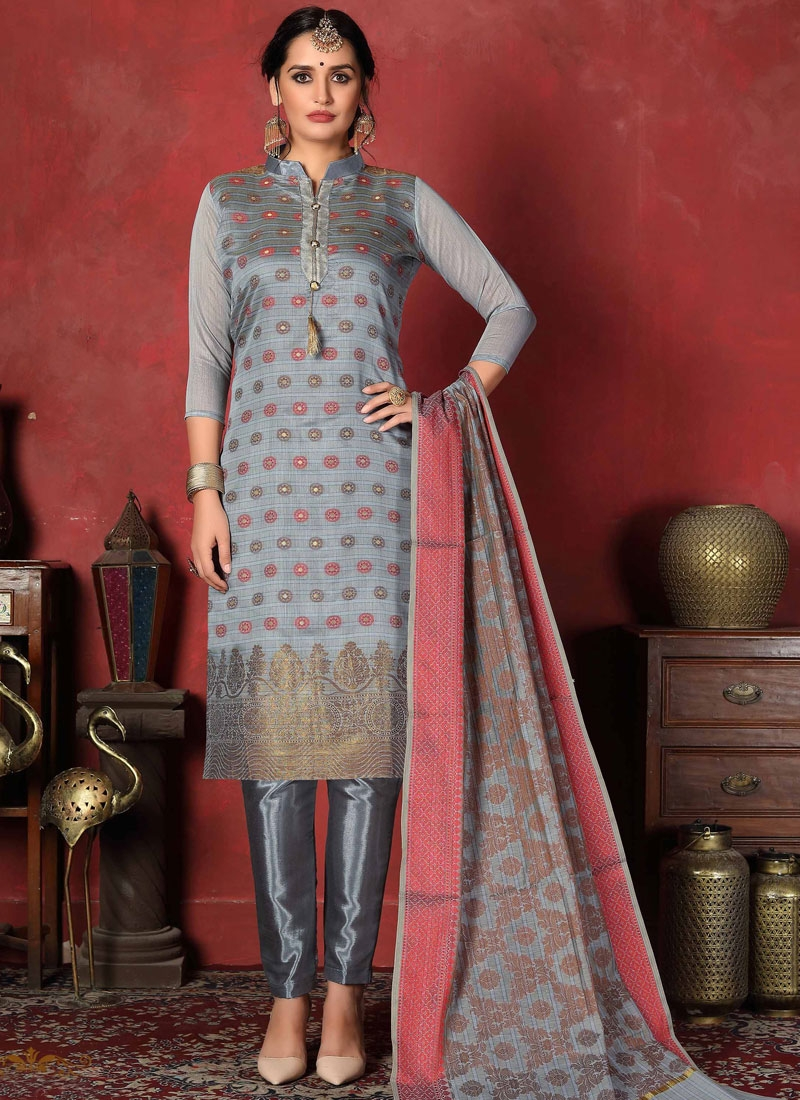 Woven Work Art Silk Pant Style Classic Suit