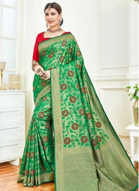Woven Work Art Silk Traditional Designer Saree