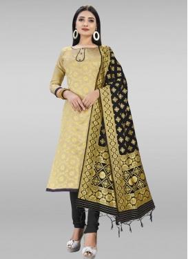 Woven Work Art Silk Trendy Churidar Salwar Suit